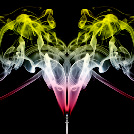 Smoke Fun by Fahad Iqbal - Abstract Patterns ( abstract, isolated, pattern, incense, artistic, smoke,  )