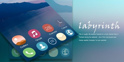 Screenshot of Labyrinth GO Launcher Theme
