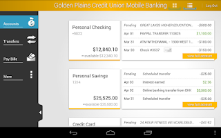 Screenshot of Golden Plains Credit Union