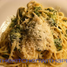 Chicken and Spinach Alfredo with Thin Spaghetti