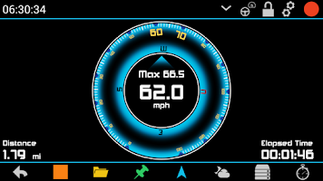 Screenshot of GPS HUD Speedometer Free