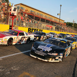LINEUP OF THE CRA RACE AT BERLIN by Tom De Vette - Sports & Fitness Other Sports ( berlin raceway, race cars, cra cars, template body cars, starting lineup )