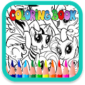 Little pony princess paint kids is Fun Free coloring book. Pony princess paint kids is best coloring activity for kids. This APK Icon