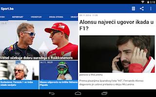 Screenshot of Novine BiH