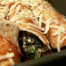 Spinach and Broccoli Enchiladas