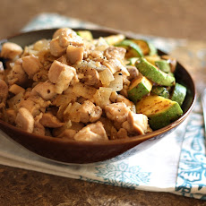 Garlicky Chicken with Onions