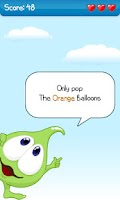 Screenshot of Kids balloon game: colours