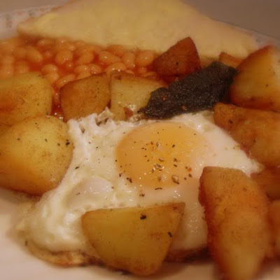 Posh Egg, Chips and Beans