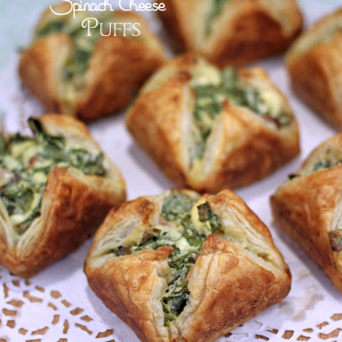Spinach Bacon Cheese Puffs