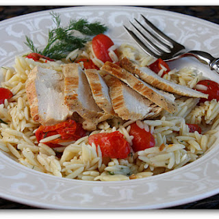 Sauteed Chicken with Dill Orzo and Tomatoes