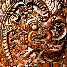 Dragon by Katie Cook - Artistic Objects Furniture ( bali, carving, dragon, door )