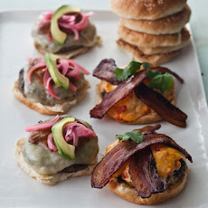 Oaxaca Burgers with Manchego, Avocado and Pickled Habanero Onions