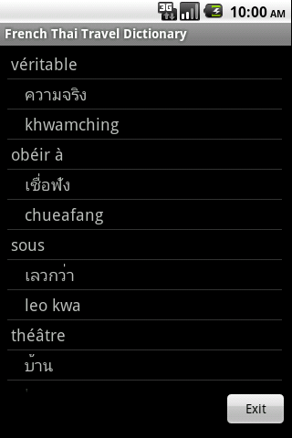 French Thai Travel Dictionary