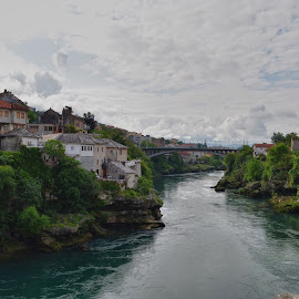 Mostar by Gergana Stefanova - Landscapes Travel ( neretva, serbia, travel, bridge, mostar, travel photography, river )