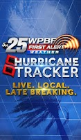 Screenshot of Hurricane Tracker WPBF 25