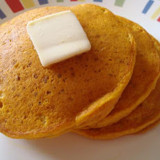 Pumpkin Ginger Pancakes With Ginger Butter
