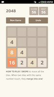 Screenshot of 2048 Undo unlimited