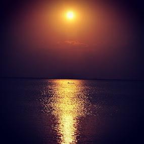 Sunset at Lake Hefner by Stephanie Hampton - Landscapes Sunsets & Sunrises ( lake, lakehefner, sunset, rsa_sky, sendmeyoursunset, sky, skygram, skyonfire, oklahoma, okc, news_ok, tourserv, freedomthinkers, nikon, nikond3200 )