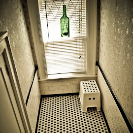 Wild Channel by Bobo Chuckleworth - Artistic Objects Furniture ( buffalo, spotted, indoor, floors, artiistic, bw, bathroom, dots, bottle, usa )