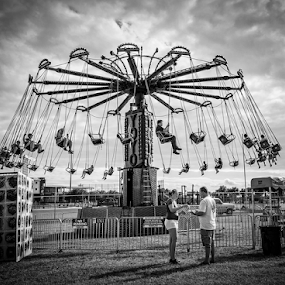 at the fair by Lennie L. - Black & White Street & Candid ( , Travel, People, Lifestyle, Culture )