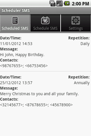 Scheduler SMS LITE