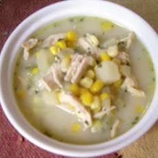 Creamy Chicken and Sweetcorn Soup