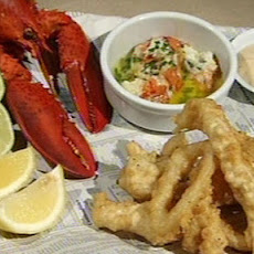 Seafood Platter With Triple Cooked Chips And Garlic Mayonnaise