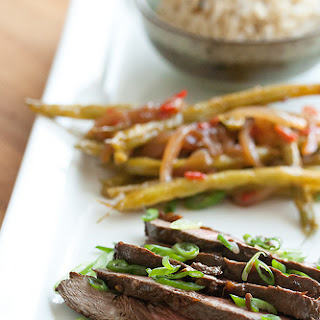 Korean-Style Flank Steak and Sweet Chili Green Beans