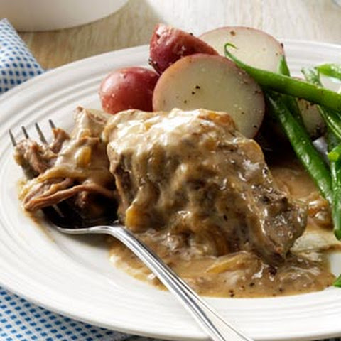 Slow-Cooked Round Steak