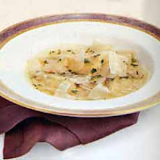 Butternut Squash Ravioli in Cider Broth