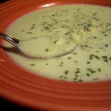 Cauliflower Blue Cheese Soup