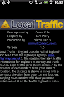 Screenshot of Local Traffic - England