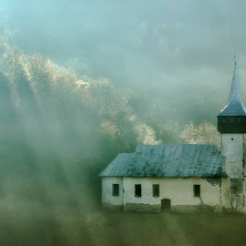 Memories of the past by Popescu Cezar Gabriel - Buildings & Architecture Places of Worship ( church, romania, sunrise, abandoned,  )
