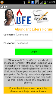 Abundant Lifers Forum - screenshot