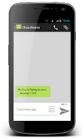 Screenshot of Spoofy (spoof friends via SMS)