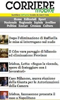 Screenshot of CORRIERE DELL'IRPINIA