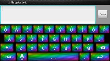 Screenshot of Pretty Rainbow Keyboard Skin