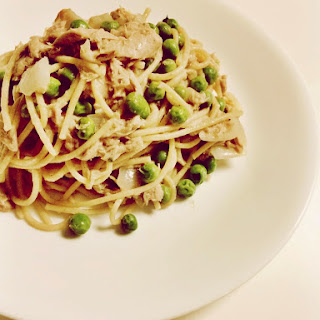 Tuna Pasta with White Wine Sauce