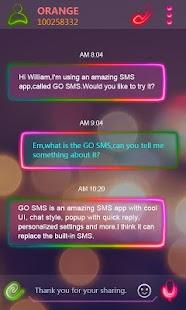 Free GO SMS PRO NEONLIGHT THEME APK for Windows 8