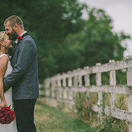 Country by Brad N Sky Thomson - Wedding Bride & Groom ( #flowers, #kiss, #love, #bride, #vintage, #groom )