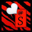 KB SKIN - Red Zebra Hearts