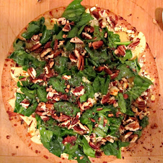 Apple, Pecan, and Goat Cheese Pizza