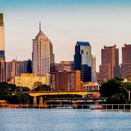 Philadelphia by Vaibhav Jain - City,  Street & Park  Skylines ( office, skyline, building, creek, philadelphia, homes, river )