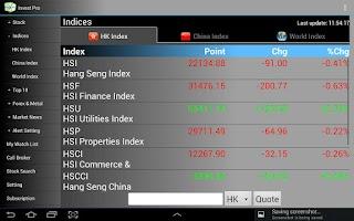 Screenshot of Invest Pro - Tablet