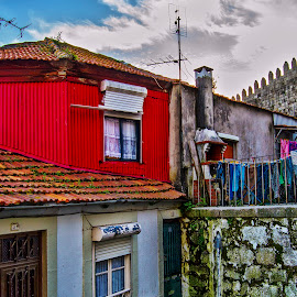 Red House by José Pedro Whiteman - Buildings & Architecture Homes ( red house, red, fortress, house, city )