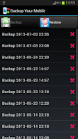 Screenshot of Backup Your Mobile