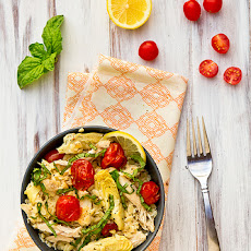 Lemony Orzo with Chicken and Roasted Tomatoes