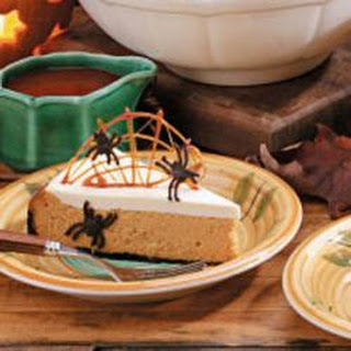 Spiderweb Pumpkin Cheesecake