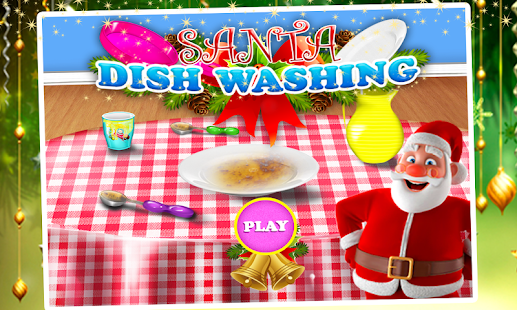 Santa Dish Washing Game - screenshot