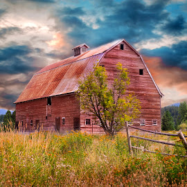 Old Barn by Tabi Melton - Buildings & Architecture Other Exteriors ( farm, old, sky, peaceful, barn, beautiful, landscape, country )